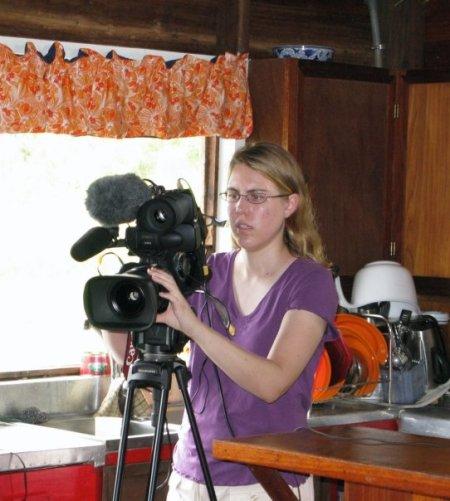 Regina, behind the camera, as usual